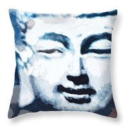 Peaceful Buddha 2- Art By Linda Woods Throw Pillow