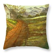 Peaceful Country Throw Pillow