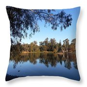 Peaceful Day At The Park Throw Pillow