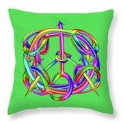 Peaceful Dicks  Throw Pillow
