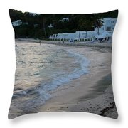 Peaceful Evening On Dawn Beach Throw Pillow