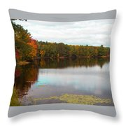 Peaceful Fall Day Throw Pillow