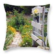 Peaceful Garden Throw Pillow