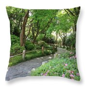 Peaceful Garden Path Throw Pillow