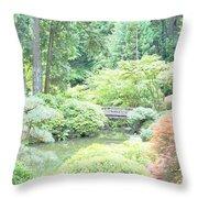 Peaceful Garden Space Throw Pillow