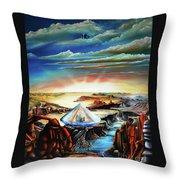Peaceful Gathering Throw Pillow