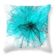 Peaceful Glow - Aquamarine Art Throw Pillow