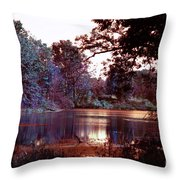 Peaceful In Infrared No1 Throw Pillow