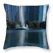 Peaceful Lake Eola Throw Pillow