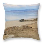 Peaceful Moments By The Salt Lake 4 Throw Pillow