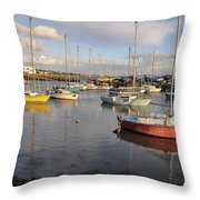 Peaceful Mooring Throw Pillow