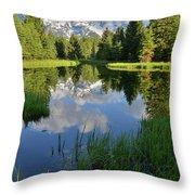 Peaceful Morning In Grand Teton Np Throw Pillow