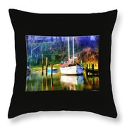 Peaceful Morning In The Cove Throw Pillow