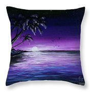Peaceful Night Throw Pillow
