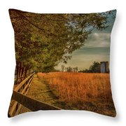 Peaceful On The Fam Throw Pillow