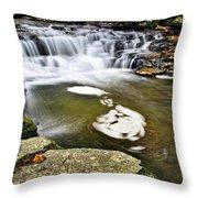 Peaceful Pool Waterfall Throw Pillow