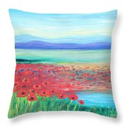 Peaceful Poppies Throw Pillow