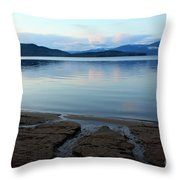 Peaceful Priest Lake Throw Pillow