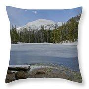 Peaceful Rocky Mountain National Park Throw Pillow