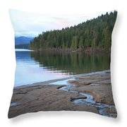 Peaceful Spring Lake Throw Pillow