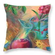 Peaceful Summer Throw Pillow