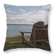Peaceful Sunday Morning Throw Pillow