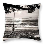 Peaceful Tide Throw Pillow