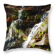 Peaceful Waterfall Throw Pillow