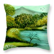 Peaceful  Waters 2 Throw Pillow