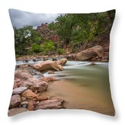 Peaceful Waters Of Zion Throw Pillow