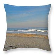Peaceful Waves Throw Pillow