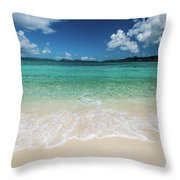 Peaceful Waves Throw Pillow