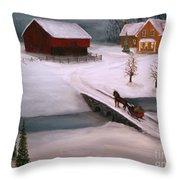 Peaceful Winter Evening Throw Pillow
