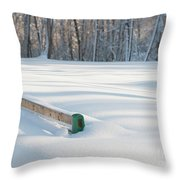 Peaceful Winter Snow Throw Pillow
