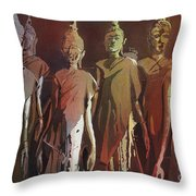 Peacefully Stacked Throw Pillow