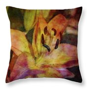 Peach And Yellow 2625 Idp_2 Throw Pillow