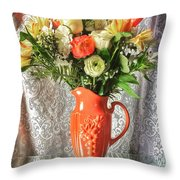 Peach Roses - Mini Throw Pillow