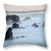 Peach Sky At Arched Rock Throw Pillow