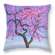 Peach Tree, Painting Throw Pillow