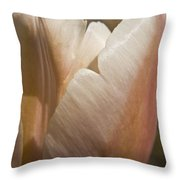 Peach Tulip Throw Pillow