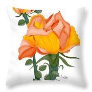 Peaches And Creme Throw Pillow