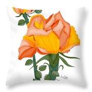 Peaches And Creme Throw Pillow
