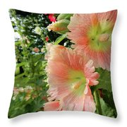 Peaches And Petals Throw Pillow