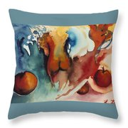 Peaches Throw Pillow by Laura Joan Levine