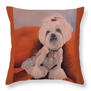 Peaches 'n Cream Throw Pillow