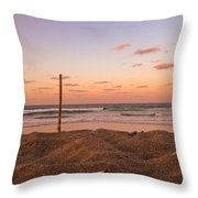 Peachy Beachy Throw Pillow