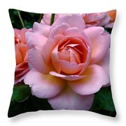 Peachy Pink Throw Pillow