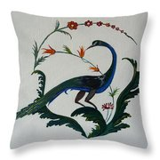 Peackok Throw Pillow