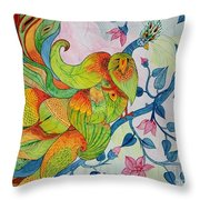 Peacock- Abstract Throw Pillow