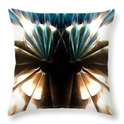Peacock Art In Abstract Throw Pillow